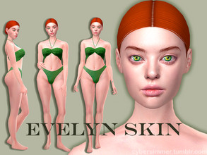 Sims 4 — Evelyn skin by CyberVampFox — HQ Compatible 6 Swatches Custom Thumbnail The preview picture was taken with HQ
