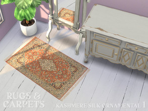 Sims 4 — Cashmere Silk Ornamental 90 x 60 cm (36 x 24 in) No. 1 by RugsAndCarpets — A beautiful, hand knotted carpet from