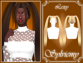 Sims 4 — Lexy Hairstyle Set by Sylviemy — The Set included Lexy Hairstyle and Accessory Recolor
