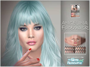 Sims 4 — Angelina facemask by BAkalia — Hello :) Realistic facemask for female sims. It works like a non-default skin but