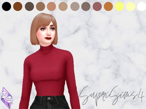 Sims 4 — Recolor trendy short hairstyle for your female sims by SupriSims4 — 13 natural colors 14 unnatural colors 6