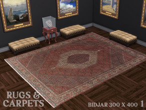 Sims 4 — Bidjar Mahi 300 x 400 No. 1 by RugsAndCarpets — This robust and magnificent hand knotted carpet in the size 300