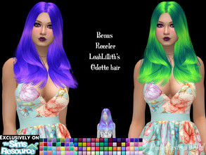 Sims 4 — Bonus recolor of LeahLillith's Odette hair by PinkyCustomWorld — - Recolor in 96 different colors - Custom