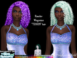Sims 4 — Recolor of Wingssims TZ1028 hair by PinkyCustomWorld — - Recolor in 48 different colors - Custom Thumbnail -