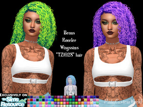 Sims 4 — Bonus recolor of Wingssims TZ1028 Hair by PinkyCustomWorld — - Recolor in 96 different colors - Custom Thumbnail