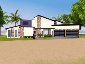 Sims 3 — Paradise Palms by RomazingCreations — This luxurious modern home overlooks the beautiful ocean for any sucessful