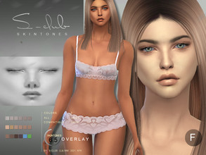 Sims 4 — S-Club ts4 WMLL BS 6.5 F by S-Club — Skin overlay for female, 3 swatches, compatible HQ mod, all ea swatches,