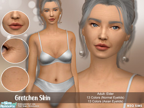 Sims 4 — Gretchen Skin by MSQSIMS — - Base Game - Female Only - Adult - Elder - Skin Detail Category - 13 Colors (Normal