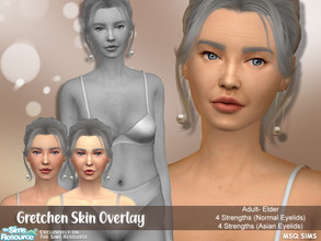 Sims 4 — Gretchen Skin Overlay by MSQSIMS — - Base Game - Female Only - Adult - Elder - Skin Detail Category - 4