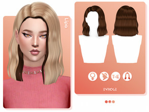 Sims 4 — EnriqueS4 - Lipa Hairstyle Duotone by Enriques4 — Recolor of Lipa Hairstyle (You need the mesh to use this