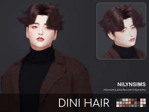 Sims 4 — DINI HAIR NEW MESH by Nilyn — INFORMATION -Mesh by Nilyn. -30 Swatches. -All gender. -All HAT Compatible. -All