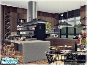 Sims 4 — VAIDONA - KITCHEN by marychabb — I present a room - Kitchen, that is fully equipped. Tested. Cost: 35,299 $