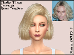 Sims 4 — Charlize Theron by YNRTG-S — Decided to test my skills and patience with a celebrity sim and I REALLY liked it,
