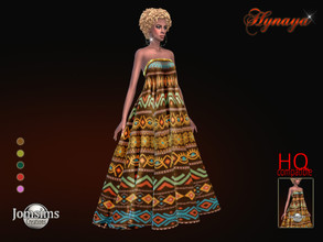 Sims 4 — Hynaya dress by jomsims — Hynaya dress dress Sims 4 for her in 5 shades. long dress with large folds. ethnic