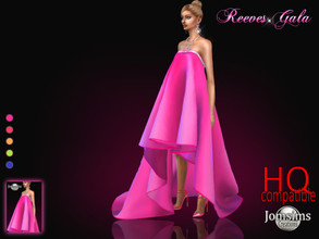 Sims 4 — Reeves gala dress by jomsims — Reeves gala dress Dress Sims 4 for her in 5 shades. long gala dress. big folds.