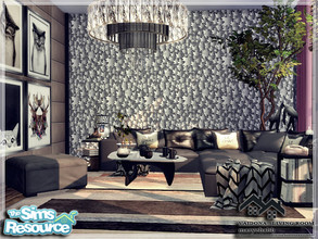 Sims 4 — VAIDONA - LIVING ROOM by marychabb — I present a room - Living Room, that is fully equipped. Tested. Cost: