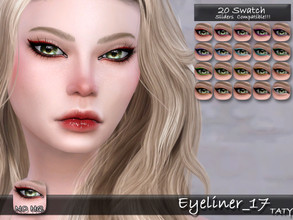 Sims 4 — [Ts4]Taty_Eyeliner_17 by tatygagg — - Female, Male - Human, Alien - Teen to Elder - Hq Compatible - Sliders