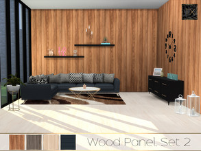 Sims 4 — TX - Wood Panel Set 2 by theeaax — This beautiful set contains - 4 Different wood walls ( 3 vertical and 1
