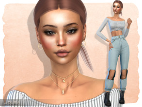 Sims 4 — Alyssa Cohen by Jolea — If you want the Sim to look the same as in the pictures you need to download all the CC