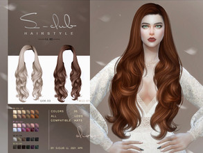Sims 4 — sclub_ts4_LL hair_n80 by S-Club — The Curly long hair for The Sims 4. 36 swatches, hope you like, thank you!