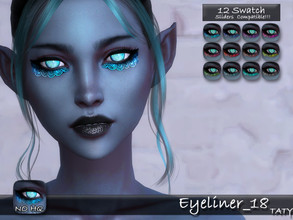 Sims 4 — [Ts4]Taty_Eyeliner_18 by tatygagg — - Female, Male - Human, Alien - Teen to Elder - Hq Compatible - Sliders