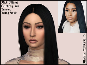 Sims 4 — Nicki Minaj by YNRTG-S — I've always liked Nicki's facial features, so, eh, here I am. ^^ The everyday outfit
