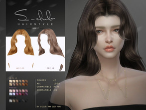 Sims 4 — S-Club ts4 WM Hair 202117 by S-Club — hairstyle, Female hair, 42 swatches, Hope you enjoy it! Thank you very