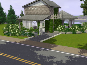Sims 3 — The Peony (Furnished) CC Free by Madams139 — Small one bed house, big on the outside space! Ivy on outside is