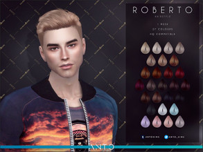 Sims 4 — Anto - Roberto (Patreon) by Anto — Short male hairstyle. FOr more hairs visit my patreon!