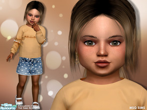 Sims 4 — Emma Starford by MSQSIMS — Name : Emma Starford Age : Toddler Traits: Angelic * Download all CC's listed in the