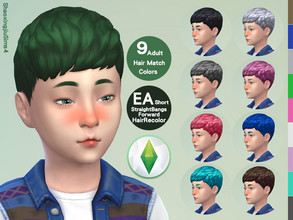 Sims 4 — Kid ShortStraightBangsForward Hair Recolor by jeisse197 — Category : Hair Recolor - 9 EA Adult Match Colors In