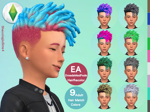 Sims 4 — Kid EP08DreadsMedFede Hair Recolor by jeisse197 — Category : Hair Recolor - 9 EA Adult Match Colors In Age :