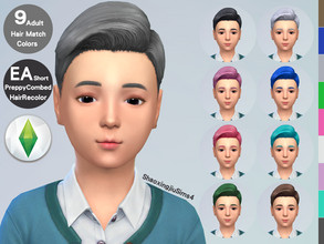 Sims 4 — Kid ShortPreppyCombed Hair Recolor by jeisse197 — Category : Hair Recolor - 9 EA Adult Match Colors In Age :