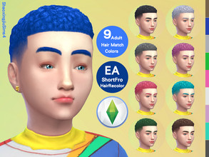 Sims 4 — Kid ShortFro Hair Recolor by jeisse197 — Category : Hair Recolor - 9 EA Adult Match Colors In Age : Child The