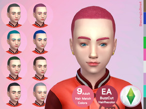Sims 4 — Kid BuzzCut Hair Recolor by jeisse197 — Category : Hair Recolor - 9 EA Adult Match Colors In Age : Child The