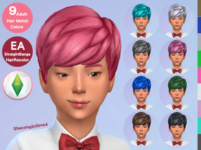 Sims 4 — Kid Straight Bangs Hair Recolor by jeisse197 — Category : Hair Recolor - 9 EA Adult Match Colors In Age : Child