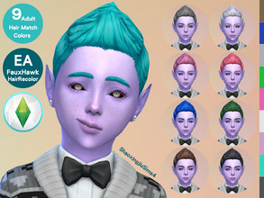 Sims 4 — Kid FauxHawk Hair Recolor by jeisse197 — Category : Hair Recolor - 9 EA Adult Match Colors In Age : Child The