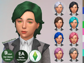 Sims 4 — Kid Surfer Hair Recolor by jeisse197 — Category : Hair Recolor - 9 EA Adult Match Colors In Age : Child The