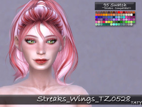 Sims 4 — [Ts4]Taty_Streaks_Wings_TZ0528 by tatygagg — - This is a costume makeup which allows to add color streaks to the