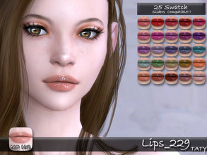 Sims 4 — [Ts4]Taty_Lips_229 by tatygagg — - Female, Male - Human, Alien - Teen to Elder - Hq Compatible - Sliders