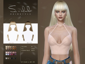 Sims 4 — sclub_ts4_LL hair_n82 by S-Club — Long hair with bangs hair for The Sims 4. 30 swatches, hope you like, thank