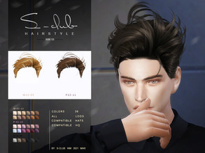 Sims 4 — S-Club ts4 WM Hair 202118 by S-Club — Hairstyles, for man and women, hope you like it, thank you!!