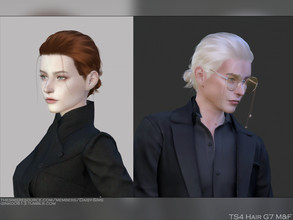 Sims 4 — [Patreon] DaisySims Male & Female Hair G7  by Daisy-Sims — 18 colors hat compatible all LODs 8.9k poly at