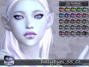 Sims 4 — [Ts4]Taty_DollyEyes_55 by tatygagg — - Female, Male - Human, Alien - Toddler to Elder - Hq Compatible - Sliders