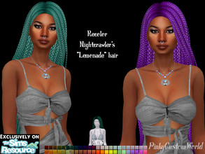 Sims 4 — Recolor of Nightcrawler's Lemonade hair by PinkyCustomWorld — - Recolor in 48 different colors - Custom