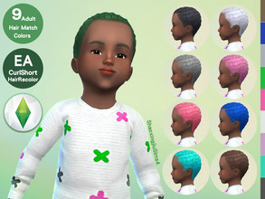Sims 4 — Toddler CurlShort Hair Recolor by jeisse197 — To fix all errors in the 2019 version,Match aliens, please
