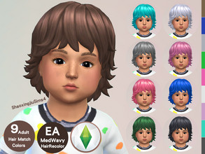 Sims 4 — Toddler MedWavy Hair Recolor by jeisse197 — To fix all errors in the 2019 version,Match aliens, please download