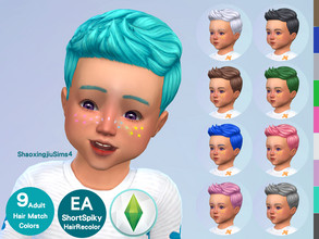 Sims 4 — Toddler ShortSpiky Hair Recolor by jeisse197 — To fix all errors in the 2019 version,Match aliens, please