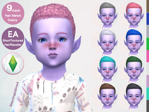 Sims 4 — Toddler ShortTextured Hair Recolor by jeisse197 — To fix all errors in the 2019 version,Match aliens, please