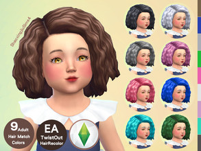 Sims 4 — Toddler TwistOut Hair Recolor by jeisse197 — To fix all errors in the 2019 version,Match aliens, please download